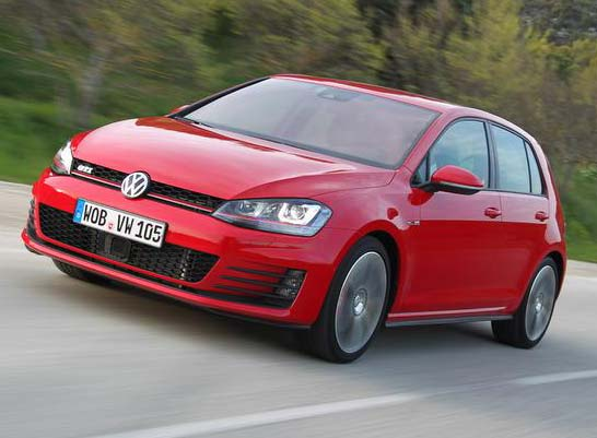 The 2014 VW Golf GTI 'Euro-Spec', a popular seller in Europe will hit Canada showrooms in fall of 2015. (VW photo) 2014大众欧版高尔夫GTI目前畅销欧洲市场,预计2015年秋季在加拿大展厅与车迷们见面。